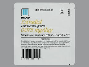 estradiol 0.075 mg/24 hr weekly transdermal patch