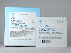 estradiol 0.0375 mg/24 hr weekly transdermal patch
