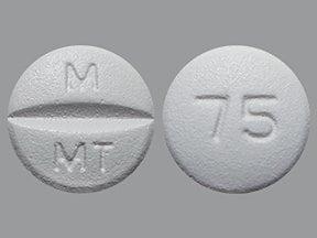 metoprolol tartrate 75 mg tablet