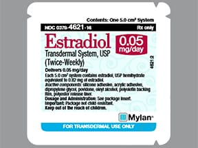 estradiol 0.05 mg/24 hr semiweekly transdermal patch