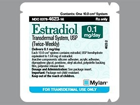 estradiol 0.1 mg/24 hr semiweekly transdermal patch