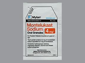 montelukast 4 mg oral granules in packet