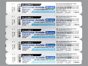 glatiramer 20 mg/mL subcutaneous syringe
