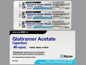 glatiramer 40 mg/mL subcutaneous syringe
