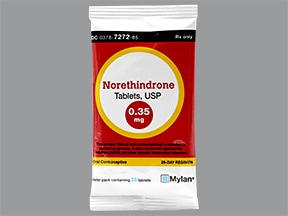 norethindrone (contraceptive) 0.35 mg tablet