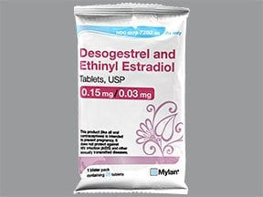 desogestrel 0.15 mg-ethinyl estradiol 0.03 mg tablet