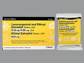 L norgest/E estradiol-E estrad 0.15 mg-30 mcg (84)/10 mcg(7) tabs,3mos