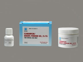 clindamycin 1 %-benzoyl peroxide 5 % topical gel