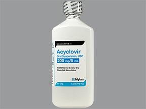 acyclovir 200 mg/5 mL oral suspension