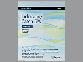 lidocaine 5 % topical patch