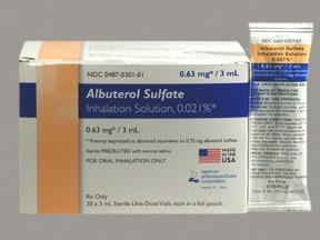 albuterol sulfate 0.63 mg/3 mL solution for nebulization