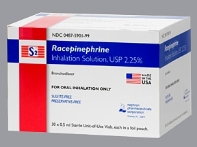 S2 Racepinephrine 2.25 % solution for nebulization