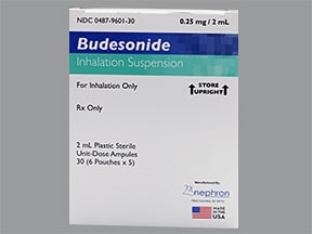 budesonide 0.25 mg/2 mL suspension for nebulization