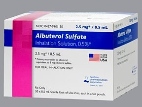 albuterol sulfate concentrate 2.5 mg/0.5 mL solution for nebulization