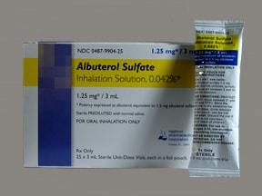 albuterol sulfate 1.25 mg/3 mL solution for nebulization