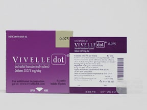 Vivelle-Dot 0.075 mg/24 hr transdermal patch