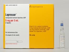 Lopressor 5 mg/5 mL intravenous solution
