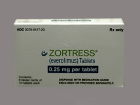 Zortress 0.25 mg tablet