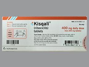 Kisqali 400 mg/day (200 mg x 2) tablet