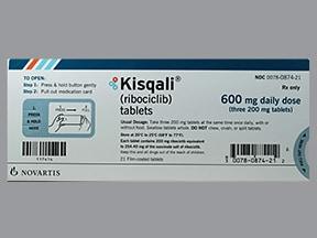 Kisqali 600 mg/day (200 mg x 3) tablet