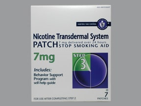 nicotine 7 mg/24 hr daily transdermal patch