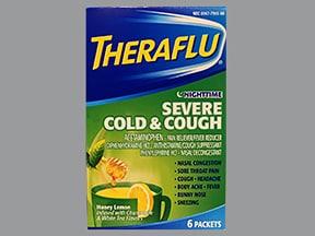 Theraflu Nighttime Severe Cold-Cough 25 mg-10 mg-650 mg powder packet