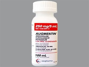 Augmentin 250 mg-62.5 mg/5 mL oral suspension
