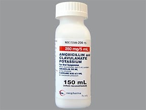 amoxicillin 250 mg-potassium clavulanate 62.5 mg/5 mL oral suspension