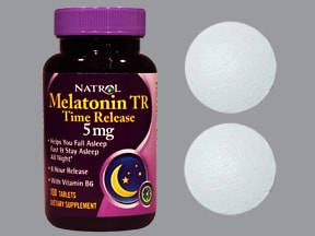 melatonin ER 5 mg--pyridoxine HCl (B6) 10 mg tablet,extend release,mp
