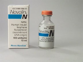 Novolin N NPH U-100 Insulin isophane 100 unit/mL subcutaneous susp
