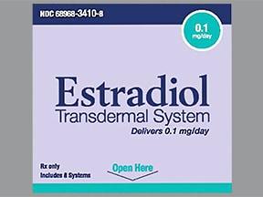 estradiol 0.1 mg/24 hr semiweekly transdermal patch