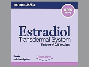 estradiol 0.025 mg/24 hr semiweekly transdermal patch