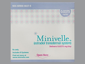 Minivelle 0.0375 mg/24 hr transdermal patch