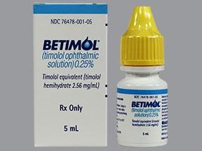 Betimol 0.25 % eye drops