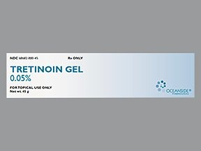 tretinoin 0.05 % topical gel