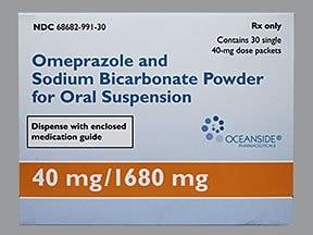 omeprazole 40 mg-sodium bicarbonate 1,680 mg oral packet