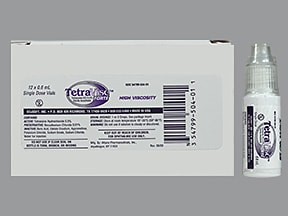 Tetravisc Forte 0.5 % hyperviscous eye drops in a dropperette