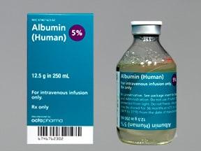 albumin, human 5 % intravenous solution