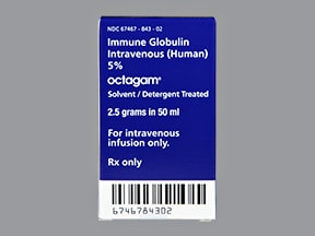 Octagam 5 % intravenous solution