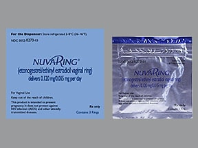 NuvaRing 0.12 mg -0.015 mg/24 hr vaginal