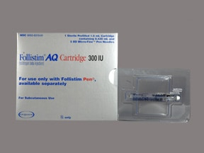 Follistim AQ 300 unit/0.36 mL subcutaneous cartridge