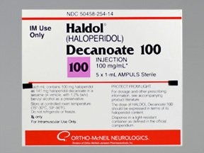 Haldol Decanoate 100 mg/mL intramuscular solution