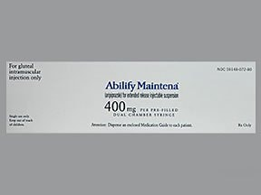 Abilify Maintena 400 mg suspension,extended rel. intramuscular syringe