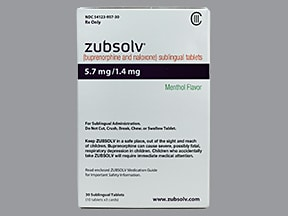 Zubsolv 5.7 mg-1.4 mg sublingual tablet