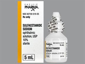 sulfacetamide sodium 10 % eye drops