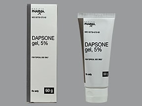 dapsone 5 % topical gel