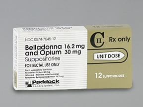 Belladonna-Opium 16.2 mg-30 mg rectal suppository