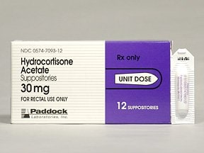 hydrocortisone acetate 30 mg rectal suppository