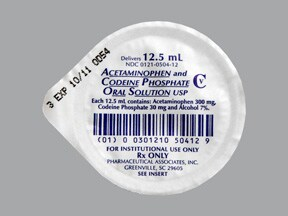 acetaminophen 300 mg-codeine 30 mg/12.5 mL (12.5 mL) oral solution