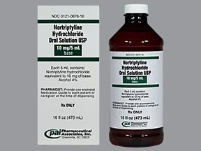nortriptyline 10 mg/5 mL oral solution